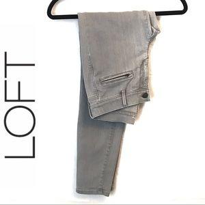 LOFT Gray Super Skinny Jeans